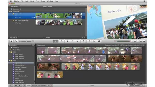 Accessing your movie in GarageBand, iWeb, and iDVD: iMovie '09 Essential Training