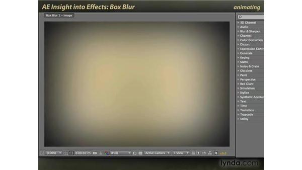 Box Blur: After Effects: Insight into Effects