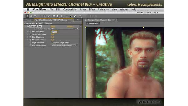 Creative Channel Blur: After Effects: Insight into Effects