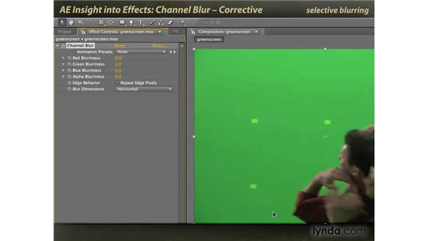 Corrective Channel Blur: After Effects: Insight into Effects