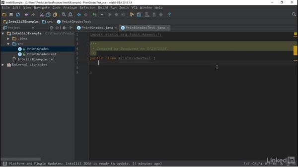 IntelliJ IDE: Using JUnit for Testing in Java