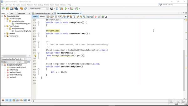 Exception handling tests: Using JUnit for Testing in Java