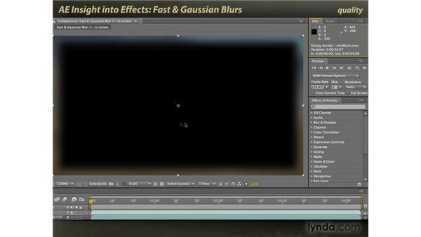 Fast Blur and Gaussian Blur: After Effects: Insight into Effects