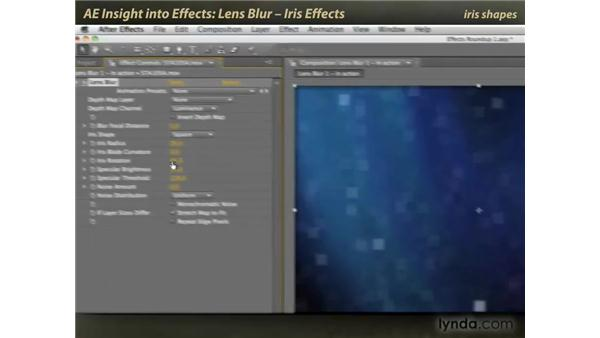 Lens Blur: iris effects: After Effects: Insight into Effects