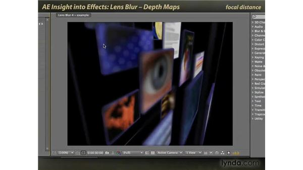 Lens Blur: depth maps: After Effects: Insight into Effects