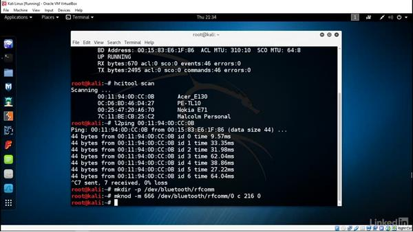 Legacy attacks using Bluesnarfer: Ethical Hacking: Wireless Networks