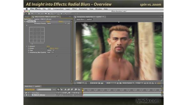 Overview of Radial Blurs: After Effects: Insight into Effects