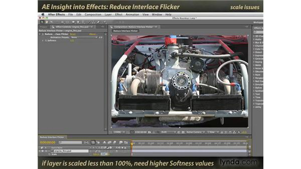 Reduce Interlace Flicker: After Effects: Insight into Effects