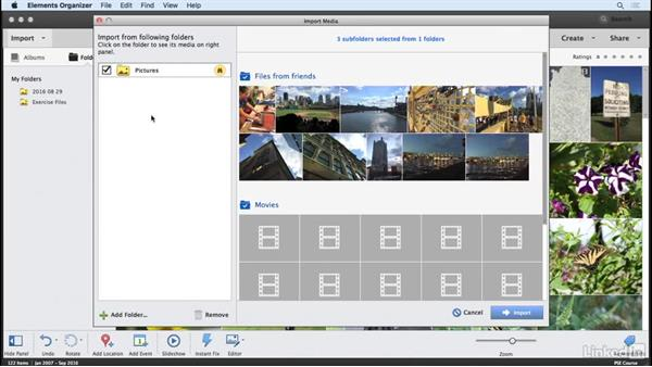 Setting up watched folders: Learning Photoshop Elements 15