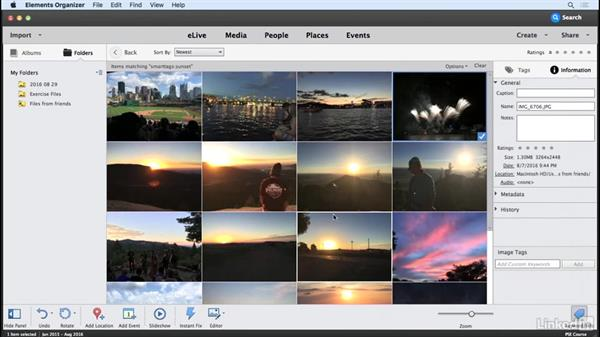 Taking advantage of smart tags: Learning Photoshop Elements 15
