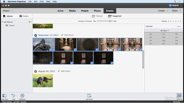 Organize photos: Albums, places, and events: Learning Photoshop Elements 15