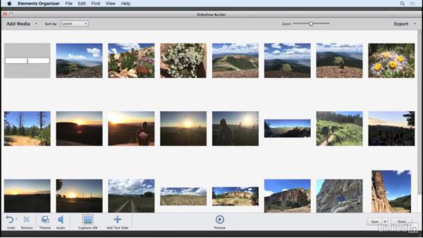 Creating a slideshow from your images: Learning Photoshop Elements 15