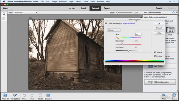 Creating an old-fashioned photo: Learning Photoshop Elements 15