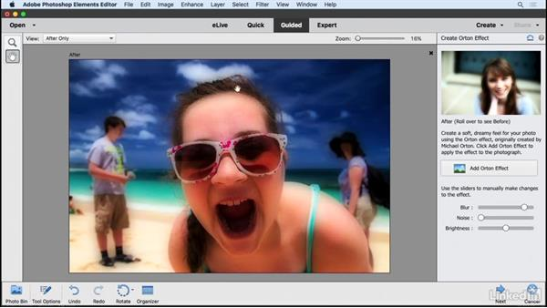 Applying the Orton effect: Learning Photoshop Elements 15