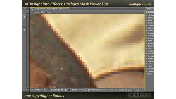 Unsharp Mask and Sharpen: After Effects: Insight into Effects