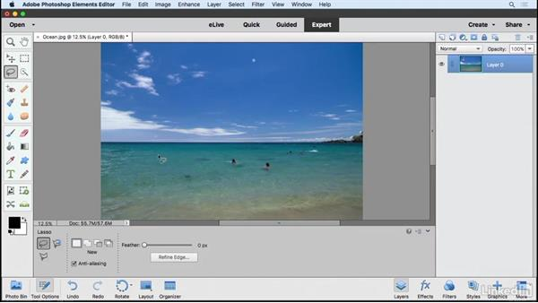 Editing with Content-Aware features: Learning Photoshop Elements 15