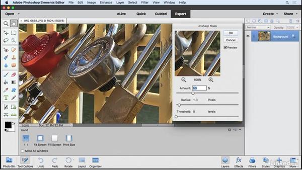 Sharpening images: Learning Photoshop Elements 15