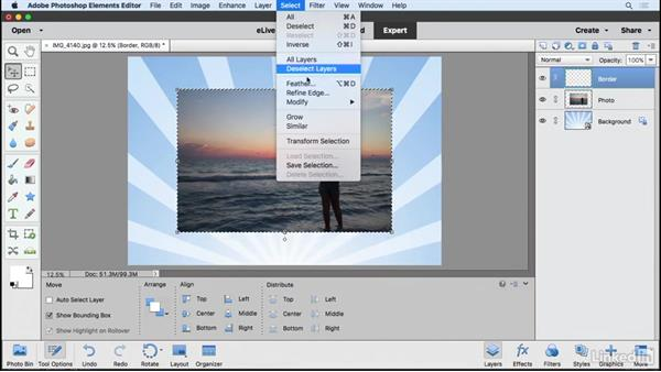 Adding graphics to an image: Learning Photoshop Elements 15
