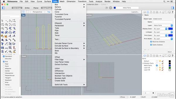 Modeling metal parts: Rhino for Mac Essential Training