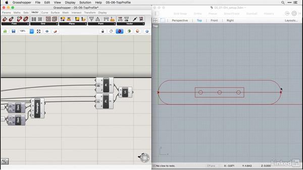 Modeling fret track profiles: Rhino for Mac Essential Training