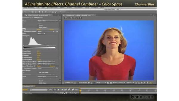 Channel Combiner and color space: After Effects: Insight into Effects