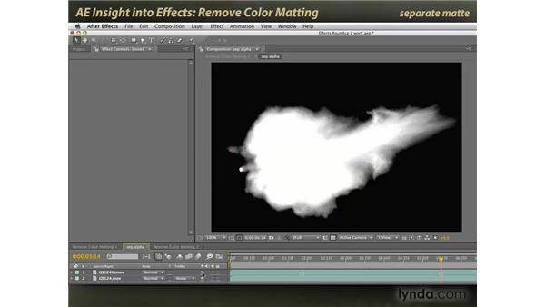 Remove Color Matting: After Effects: Insight into Effects