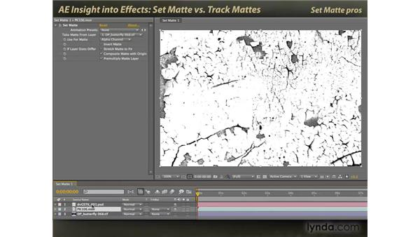 Set Matte vs. Track Mattes: After Effects: Insight into Effects