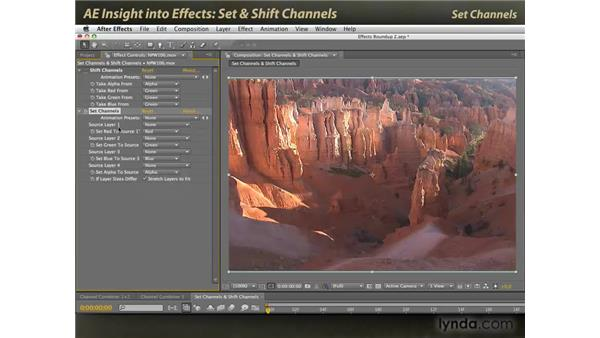 Set Channels and Shift Channels: After Effects: Insight into Effects