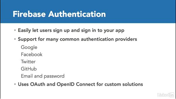 Overview of Firebase Auth: Google Firebase for iOS: First Look