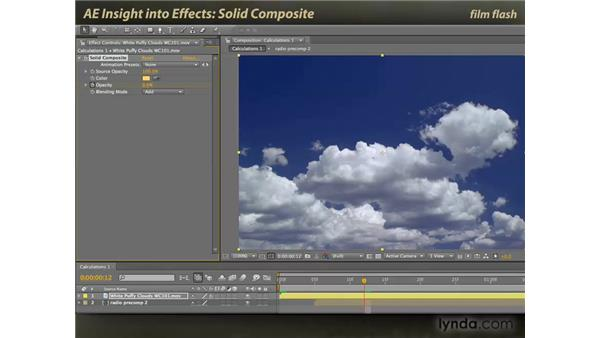 Solid Composite: After Effects: Insight into Effects