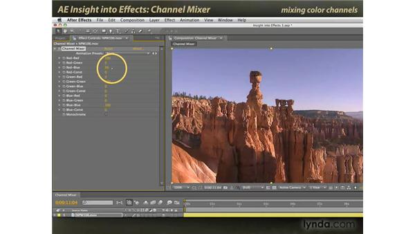 Channel Mixer: After Effects: Insight into Effects