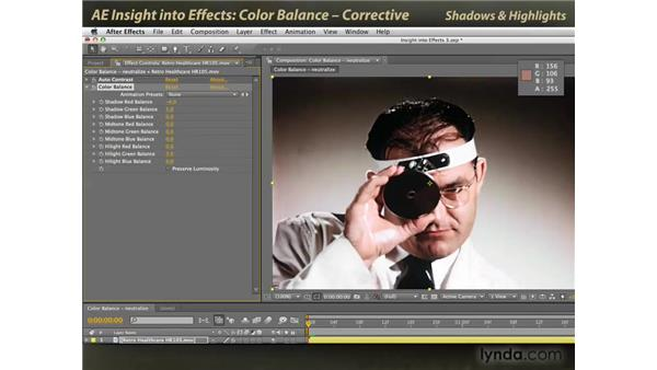 Corrective Color Balance: After Effects: Insight into Effects