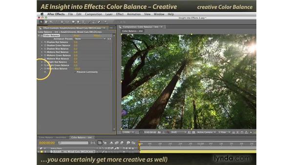 Creative Color Balance: After Effects: Insight into Effects