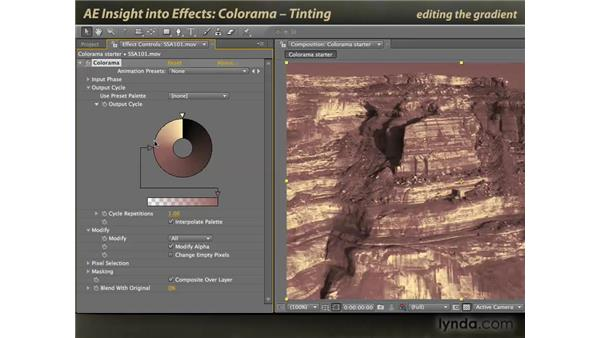 Tinting with Colorama: After Effects: Insight into Effects