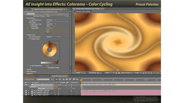 Colorama and color cycling: After Effects: Insight into Effects