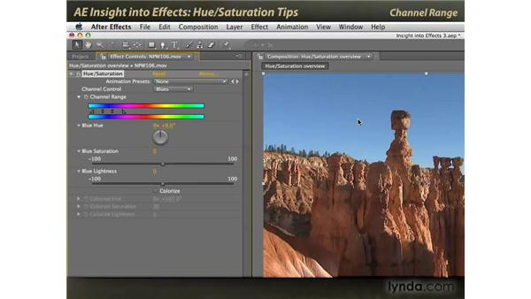 Hue/Saturation tips: After Effects: Insight into Effects