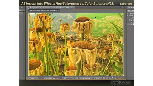Hue/Saturation vs. Color Balance: After Effects: Insight into Effects