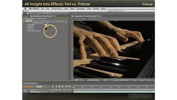 Tint vs. Tritone: After Effects: Insight into Effects