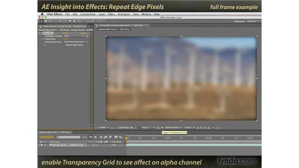 Repeat Edge Pixels: After Effects: Insight into Effects