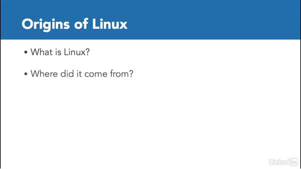 Welcome: Linux: Overview and Installation