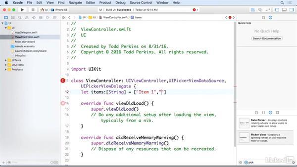 Picker views: iOS 10 App Development Essentials 3: Intermediate UI Design