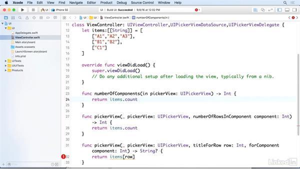 Picker views with multiple components: iOS 10 App Development Essentials 3: Intermediate UI Design