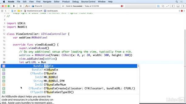 Load a file into a web view