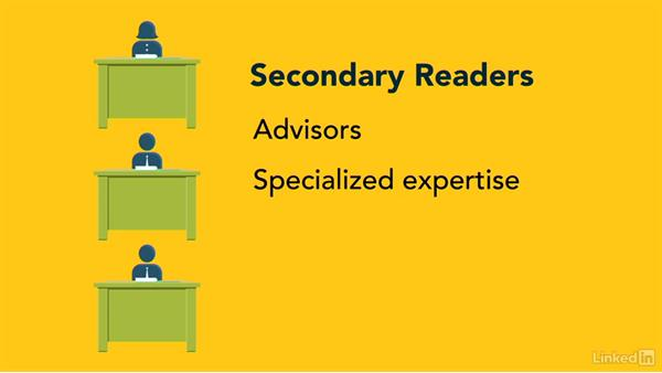 Evaluate audience needs: Writing Technical Reports