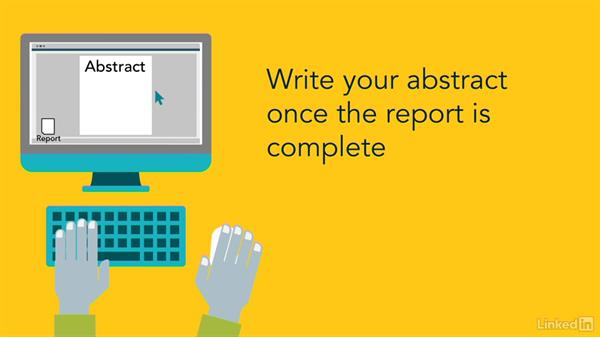 how to write an abstract in a report