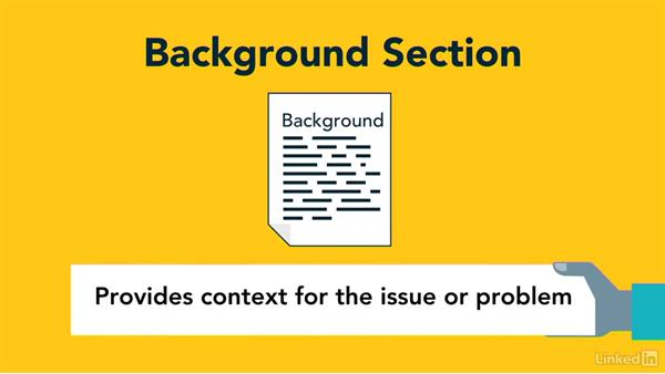 Select background information: Writing Technical Reports