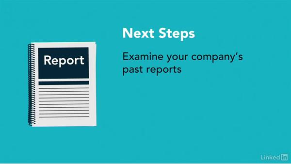 Next steps: Writing Technical Reports