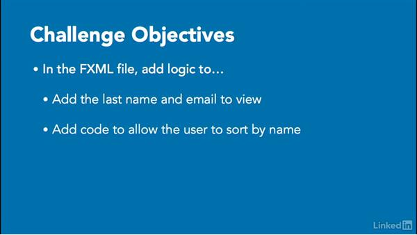 Challenge: Update an existing FXML file: Create Interfaces with FXML and JavaFX