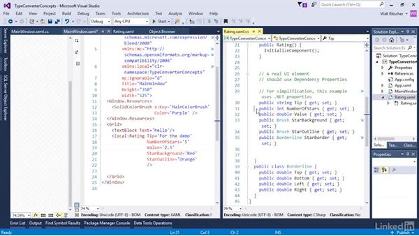 Explore the concepts of type converters: Microsoft XAML Fundamentals 3: Type Converters and Resources