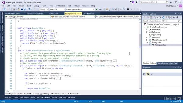Create a custom type converter: Microsoft XAML Fundamentals 3: Type Converters and Resources